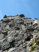 Rock Climbing Photo: 5th pitch (we did the climb in 4 long pitches with...