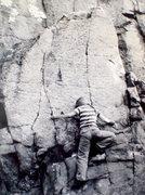 Rock Climbing Photo: Carol Black on the Little Flatiron 1974.
