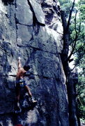 Rock Climbing Photo: BH solo on the Gill Classic, Congratulations.