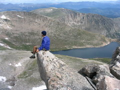 Rock Climbing Photo: North ridge. What a daredevil!