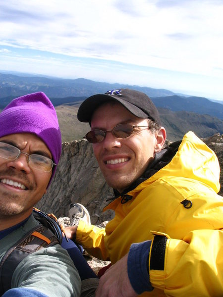 With Matt Bixby near the summit.