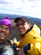Rock Climbing Photo: With Matt Bixby near the summit.