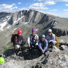 With Sandy, Mikey, and Laurelyn after climbing the 2nd Apron (above the gap between Mikey and me).