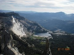 Rock Climbing Photo: View from the top of Cathedral Peak July, 2009