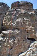 Rock Climbing Photo: Climb the left face of Banana Tower.