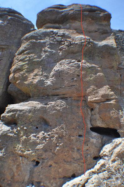 Rock Climbing Photo: Climb the right face of Banana Tower.
