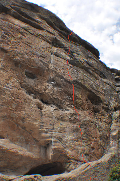 Rock Climbing Photo: Climb to the right of Rain Dance Crack.