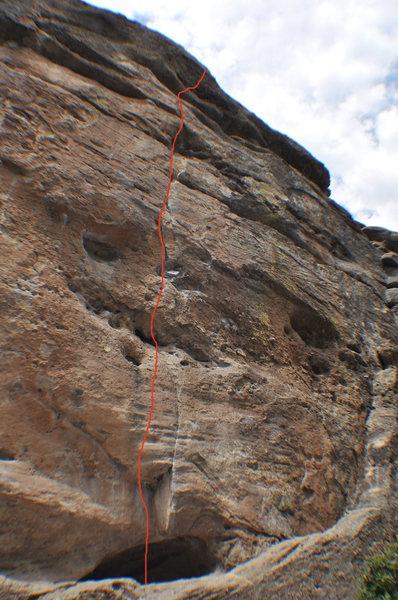 Climb the crack.