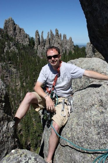 Scenic pic from 2nd belay station on Spire One in the Black Hills