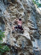 Rock Climbing Photo: Quick Draws climbs some of Rifle's best pink & blu...