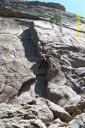 Rock Climbing Photo: Hollow Flake. Great places for cams, but the climi...