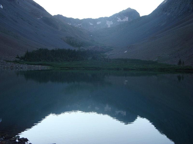 Reflection of Gladstone Peak in Navajo Lake