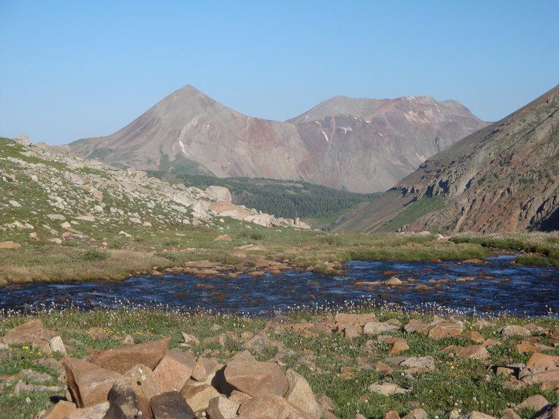 Dolores Peak from upper Navajo Lake Basin.