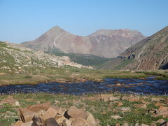 Rock Climbing Photo: Dolores Peak from upper Navajo Lake Basin.