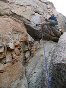 Rock Climbing Photo: Jonathan preparing to commit on Lesbos in Love (5....
