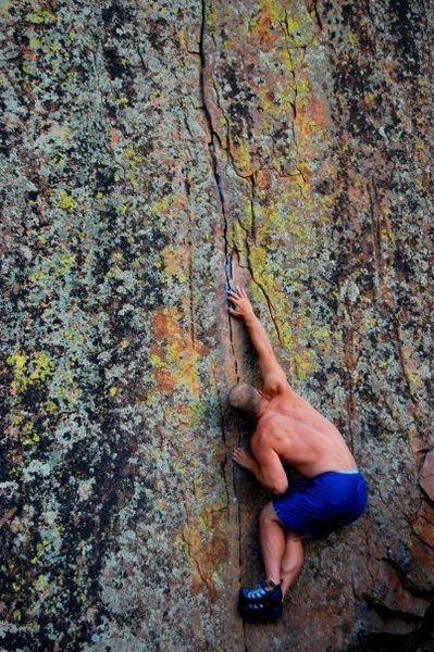 Rock Climbing Photo: Starting move..