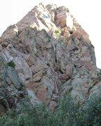 Rock Climbing Photo: Southeast Face (5.7), Yataghan, Sandia Mountains, ...