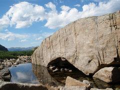 Rock Climbing Photo: reflecting pool below Spearhead