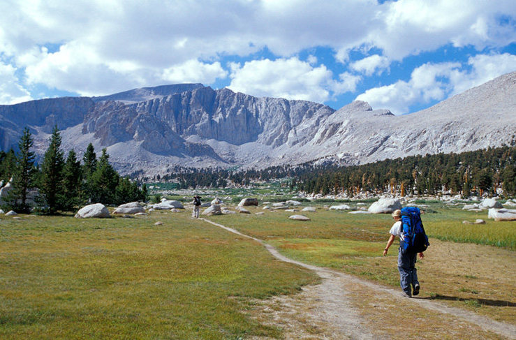 Rock Climbing Photo: Approaching Cottonwood Lakes, in anticipation of a...