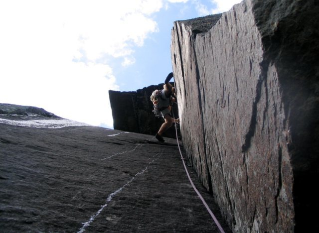 Rock Climbing Photo: Last pitch of Fastest Gun