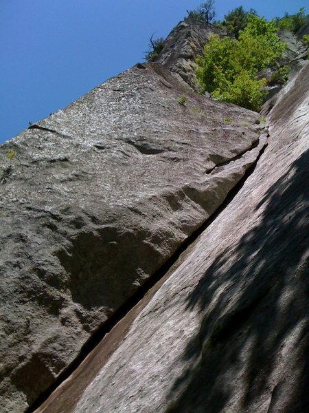 Rock Climbing Photo: Lower section on Hypocrite's Corner, Laurel Knob, ...