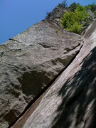 Rock Climbing Photo: Lower section on Hypocrite's Corner, Laurel Knob, ...