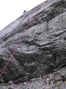 Rock Climbing Photo: my wife on the upper walls