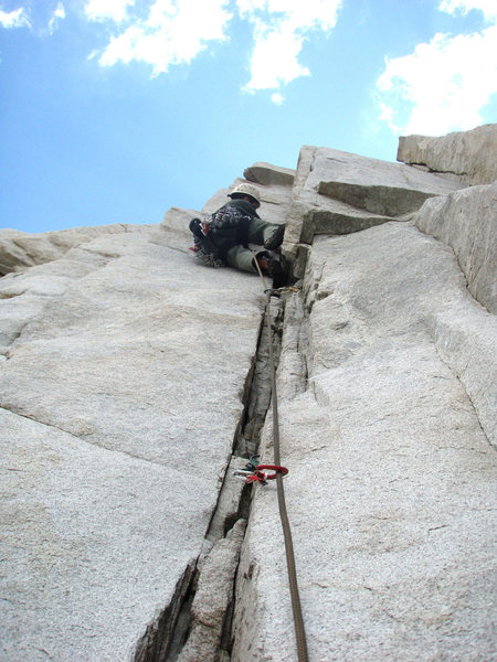 Rock Climbing Photo: Nearing the crux of Black Sheep.