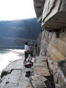 "Rock Climbing Photo: Quick top-rop setup on ""Room With A View&quot..."