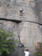Rock Climbing Photo: my little brother climbing like its nothing