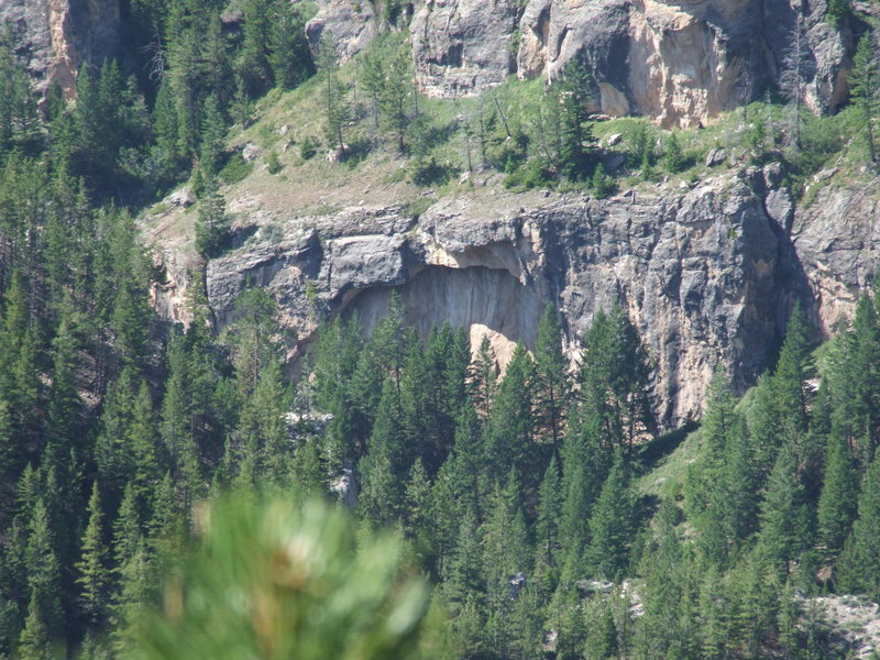 Good looking rock in poison creek canyon<br> 1
