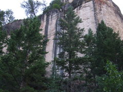 Rock Climbing Photo: bad photo of a great looking wall in piney creek. ...