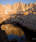 Rock Climbing Photo: Mt Muir at sunrise