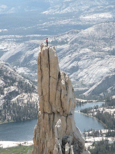 Rock Climbing Photo: Me on Eichorn pinnacle