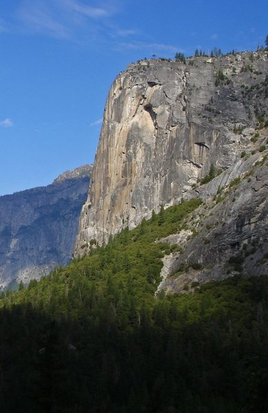 The Column, viewed from the Death Slabs under Half Dome