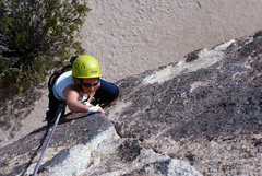 Rock Climbing Photo: Ten year old Lacey Peters styles her way up Right ...