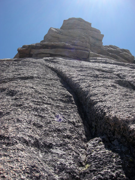 Rock Climbing Photo: This is the penultimate pitch. The final pitch tak...