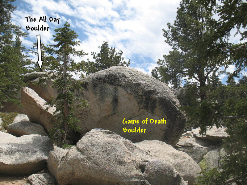 Rock Climbing Photo: Game of Death Boulder, Tramway