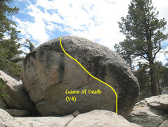 Rock Climbing Photo: Game of Death (V4), Tramway