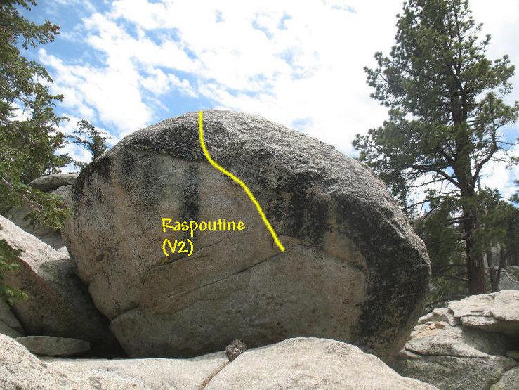 Rock Climbing Photo: Raspoutine (V2), Tramway