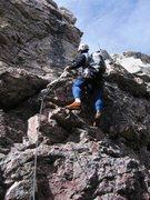 Rock Climbing Photo: Matt stylin' the last difficulties on the North Ri...