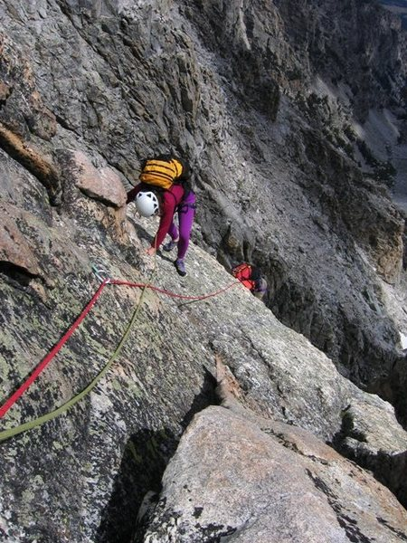 Rock Climbing Photo: Climbing up the fun lower pitches of the Buckingha...