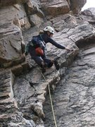 Rock Climbing Photo: Britta gettin' 'er done on around the middle of th...