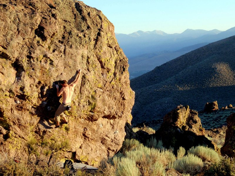 Rock Climbing Photo: cresent moon direct