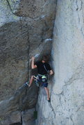 Rock Climbing Photo: Me on a rare onsight lead of the ultra classic Pap...