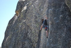 Rock Climbing Photo: Entering the fun and tricky crux.
