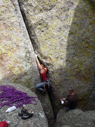 Rock Climbing Photo: Finger lock.