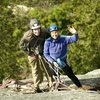 with my son Tristan, at the belay on Hairpin