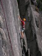 Rock Climbing Photo: Lieback Flake as seen from Corner Crack