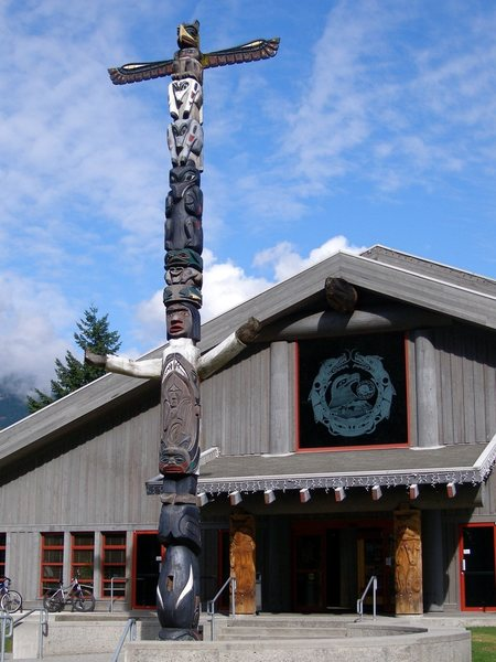 Rock Climbing Photo: Totem Pole  at the tribal center near Squamish